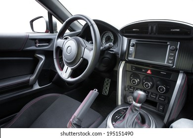 Interior of a modern sports car