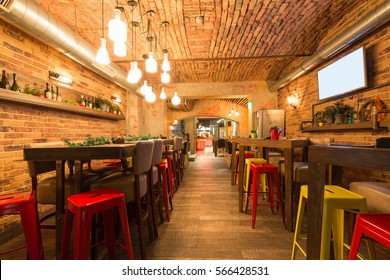 Interior of a modern urban restaurant