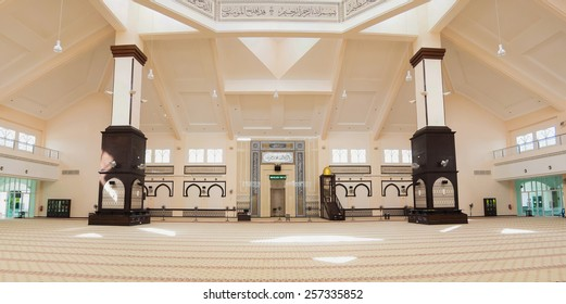 Interior of the  mosque in Malaysia