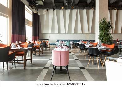Interior of a new luxury restaurant