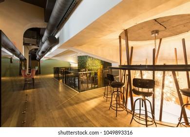Interior of a new luxury restaurant,lobby cafe,lounge bar
