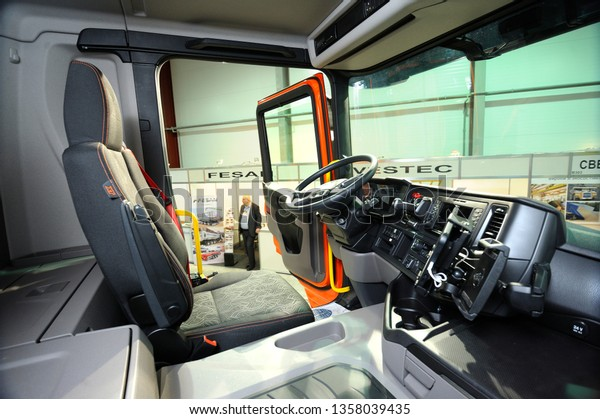 Interior New Model Dump Truck Scania Stock Photo (Edit Now