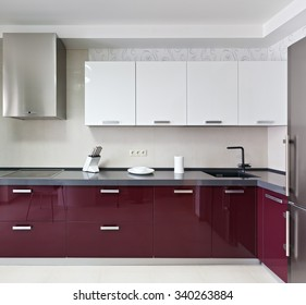 Interior of a new modern kitchen