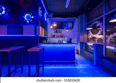 Inneneinrichtung eines Nachtclubs
