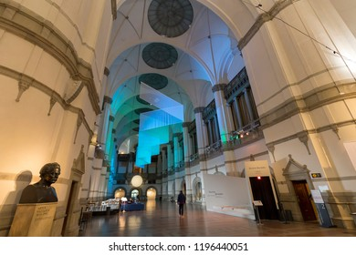 Interior of Nordic Museum (Nordiska museet), Stockholm, Sweden - 22 Jun 2018: It is dedicated to the cultural history and ethnography of Sweden.