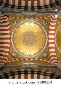 Interior of Notre-Dame de la Garde, Marseille, France,