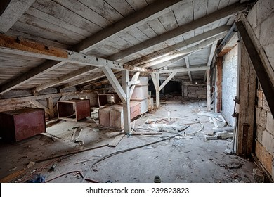 Interior of an old, abandoned building