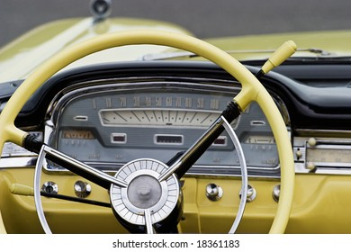 Interior from a old american car