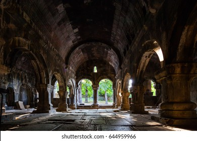 Interior of an old Armenian church situated in Sanahin village in Armenia