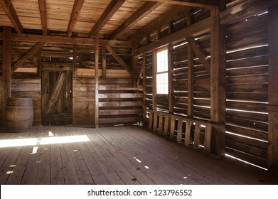 Interior of old barn