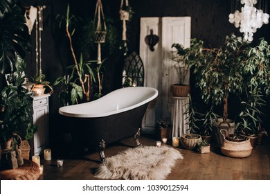 Interior of the old bathroom.