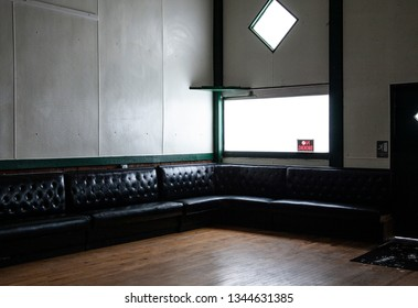 Interior of old dancehall bar in midwest.