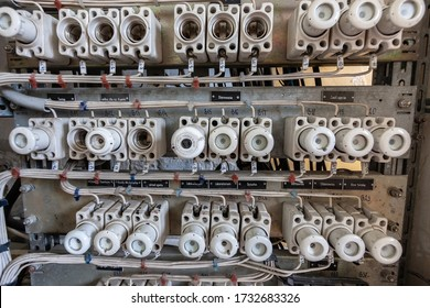 Interior of an old electrical switchgear