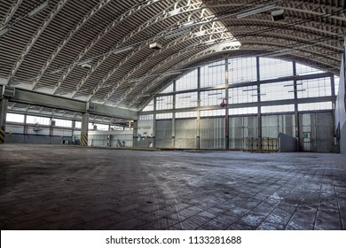 Interior of old factory buildings abandoned