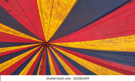 interior of old tent, colorful vintage background