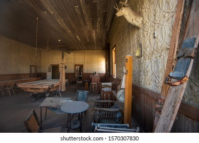 interior old west pool hall ghost town