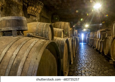 Interior of an old wine cellar, in the north of Tenerife, Canary Islands