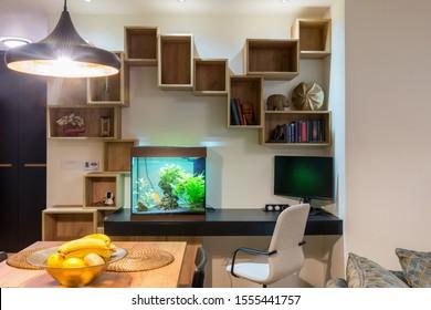 Living Room Aquarium Hd Stock Images Shutterstock