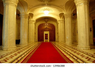 Interior of Parliament of Romania - People's House, Bucharest, Romania