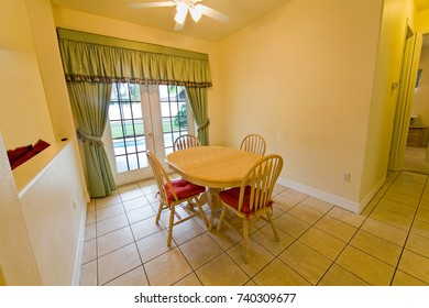 An interior photo of a breakfast area in a home