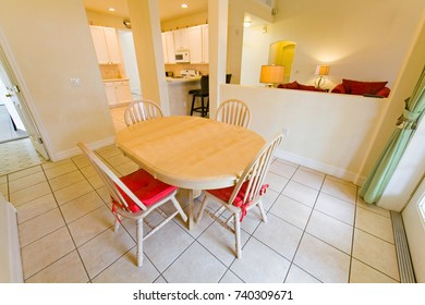 An interior photo of a breakfast room in a home