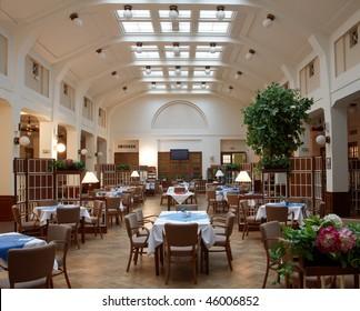 interior photo of empty restaurant