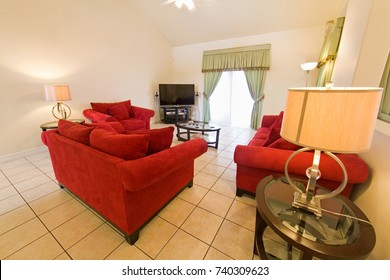 An interior photo of a living room of a home