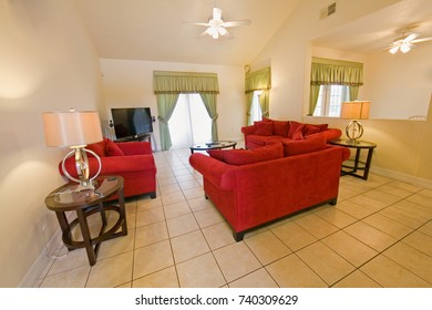 An interior photo of a living room in a home