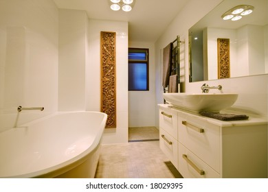 Interior photo of a modern bathroom
