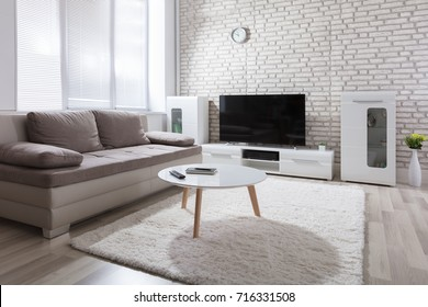 Interior Photo Of Modern Sunny Living Room