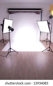 interior of a photo studio