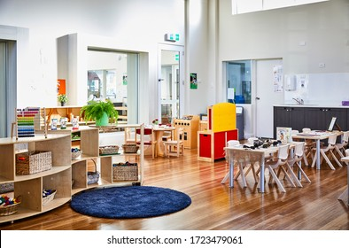 Interior photography of an upmarket child care center play room