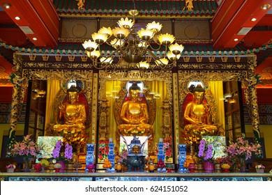 Interior of the Po Lin monastery on Lantau Island (Hong Kong)