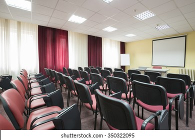 Interior of a presentation room