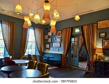 Interior of the Principal Hotel in Charlotte Square, Edinburgh. Formally the Roxburgh hotel. Edinburgh city, Scotland UK. January 2018