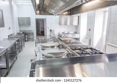 Inneneinrichtung der professionellen Küche