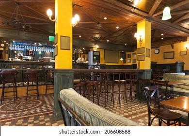 Interior of a pub
