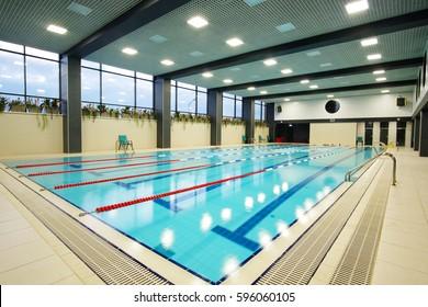 Interior of a public swimming pool