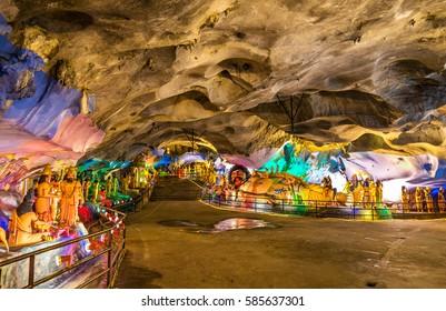 Interior of the Ramayana Cave at the Batu Caves complex - Kuala Lumpur, Malaysia