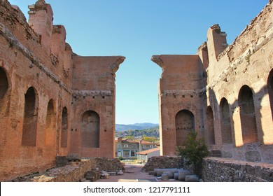Interior of Red Basilica - also known as Temple Of (Egyptian God) Serapis- in Pergamon was built during the Roman Emperor Hadrianus, 2nd century AD.