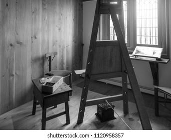 Interior retro Studio Dutch artist.