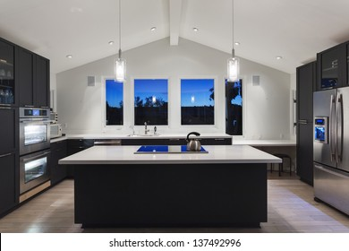 An interior of a rich house kitchen