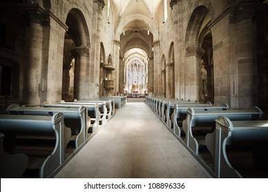 Interior of Roman Catholic cathedral in Alba Iulia, Romania