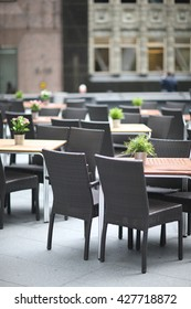 Interior of the rooftop restaurant
