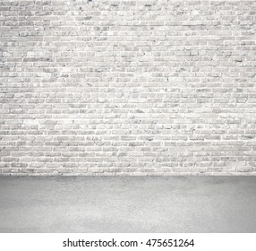 Innenraum mit Ziegelwand und Boden