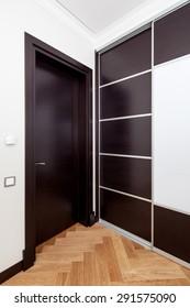 Interior of room with closet