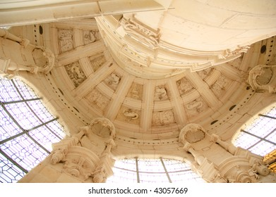 It is interior of Royal Castle of Chambord in the Loire Valley in France