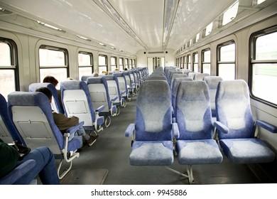 interior of russian electric train