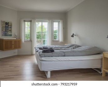 Interior from a Scandinavian home, sleeping room