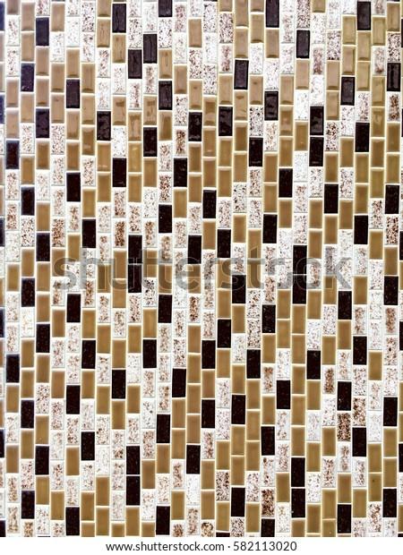 Interior shiny brown tile